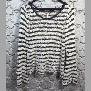 Free People Small Downy Stripe Pullover Sweater